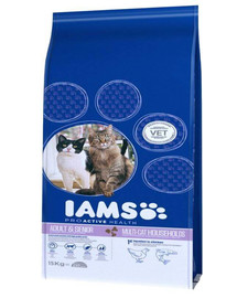 Iams Proactive Health Adult & Mature & Senior Multi-Cat Households With Salmon & Chicken 15 kg