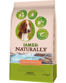 IAMS Naturally Adult Dog rich in North Atlantic Salmon & Rice 2,7 kg
