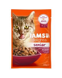 IAMS Cat Senior All Breeds Chicken In Gravy Pouch 85 g
