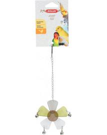ZOLUX žaislas akrilinė gėlė su varpeliais ant grandinėlės 21 cm