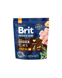 BRIT Premium By Nature Senior S/M 1 kg
