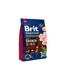 BRIT Premium By Nature Senior L/XL  3 kg