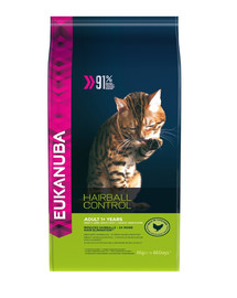 EUKANUBA Cat Hairball Control Adult All Breeds Chicken & Liver 4 kg
