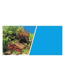 HAGEN Aquarium dvipusis akvariumo fonas augalai ir akmenys arba mėlynas 30 cm x 7.5 m
