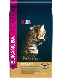 EUKANUBA Cat Adult All Breeds Healthy Digestion Lamb & Liver 2 kg