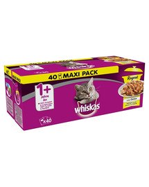 WHISKAS Whiskas Cat Food Wet Food Ragout konservai 40x85 g