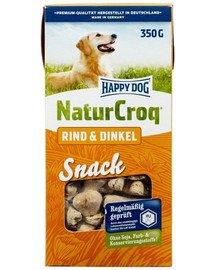 HAPPY DOG NaturCroq skanėstai (Rind + Dinkel) su jautiena ir spelta 350 g