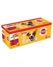 PEDIGREE Adult Mix konservai šunims su jautiena, vištiena, ėriena ir paukštiena 40 x 100g