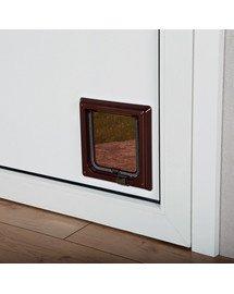 Trixie Clasic 2-Way durų landa katėms rudos 21x21 cm
