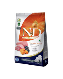 N&D GF Pumpkin Lamb & Blueberry Puppy Medium & Maxi 2.5 kg