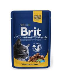 BRIT Premium konservai katėms Chicken&Turkey 100g
