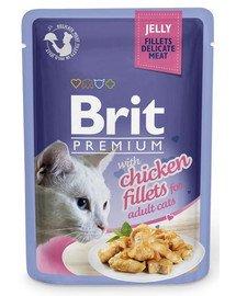 BRIT Premium konservai katėms Chicken in Jelly 85g