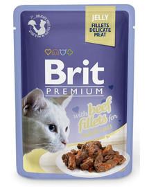 BRIT Premium konservai katėms Beef in Jelly 85g
