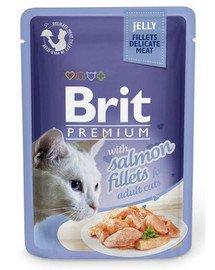 BRIT Premium konservai katėms Salmon in Jelly 85g