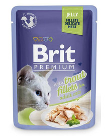 BRIT Premium konservai katėms Trout in Jelly 85g