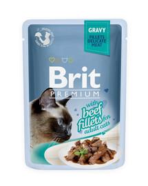 BRIT Premium konservai katėms Beef in Gravy 85g