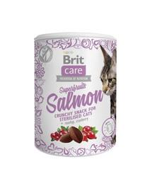 BRIT Care skanėstai katėms Superfruits Salmon 100g