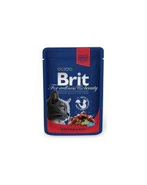 BRIT Premium konservai katėms Beef Stew&Peas 100g