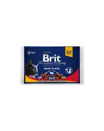 BRIT Premium konservai katėms Meat Plate 4x100g