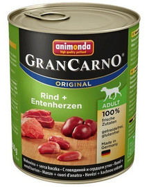 Animonda Grancarno Senior su vištiena ir kalakutų širdimis 800 g