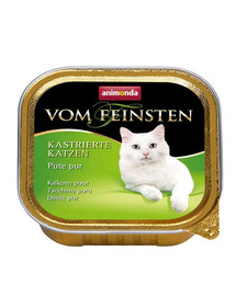 ANIMONDA Vom Feinsten Cat Castrate konservai su kalakutiena 100 g