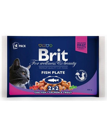 BRIT Premium konservai katėms Fish Plate 4x100g