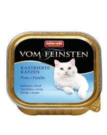ANIMONDA Vom Feinsten konservai kastruotoms katėms su kalakutiena ir upėtakiu 100 g
