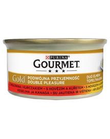 GOURMET Gold konservai su jautiena ir vištiena 85 g