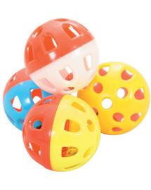 ZOLUX Kačių žaislų rinkinys iš 4 rutuliukų su varpeliais 3 cm