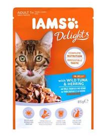IAMS Cat Adult All Breeds Tuna & Herring In Jelly 85g