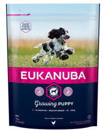 EUKANUBA Puppy Medium Breeds Chicken 1 kg