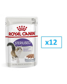 Royal Canin Sterilised paštetas 12 X 85 g