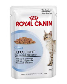 ROYAL CANIN Cat ultra light konservai drebučiuose 12x85 g