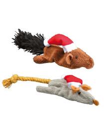 TRIXIE Kalėdinis žaislas - pelė arba voverė 14–17 cm