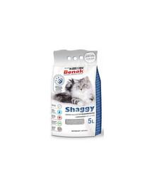 BENEK Super Shaggy natūralus kraikas ilgaplaukėms katėms 5 l