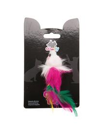 Comfy žaislas Mini pelė su plunksna 9 cm