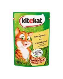 KITEKAT konservai katėms su vištiena padaže 100 g
