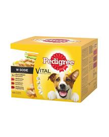 PEDIGREE konservai šunims su jautiena vištiena ir kalakutiena 48 x 100 g