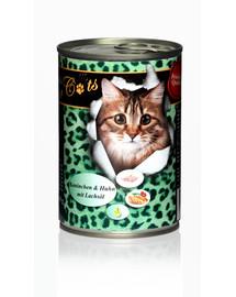 O'CANIS konservai katėms su triušiena ir lašišų aliejumi 400 g