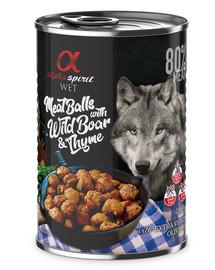 ALPHA SPIRIT konservai šunims su šerniena ir čiobreliais 400 g