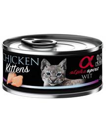 ALPHA SPIRIT konservai kačiukams su vištiena 85 g