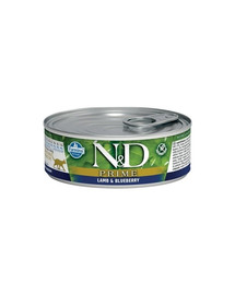 N&D Cat Prime Lamb & Blueberry konservai 80 g