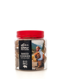 SIMPLY FROM NATURE Baked Cookies with wild boar kepti sausainiai su šerniena 300 g