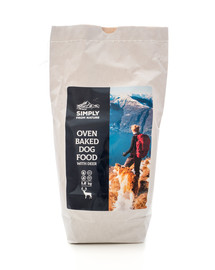 SIMPLY FROM NATURE Oven Baked Dog Food with deer orkaitėje keptas maistas su elniena 1,2 kg