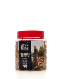 SIMPLY FROM NATURE Training Treats with beef skanėstai treniruotėms su jautiena 300 g