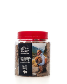 SIMPLY FROM NATURE Training Treats with wild boar skanėstai treniruotėms su šerniena 300 g