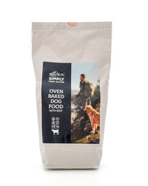 SIMPLY FROM NATURE Oven Baked Dog Food with beef orkaitėje keptas maistas su jautiena 1,2 kg