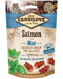 CARNILOVE Crunchy snacks traškūs skanėstai su lašiša ir mėtomis 50 g