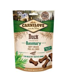 CARNILOVE Semi moist snacks subtilūs skanėstai su antiena ir rozmarinu 200 g