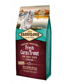 CARNILOVE Adult sterilised fresh karpis ir upėtakis 6 kg